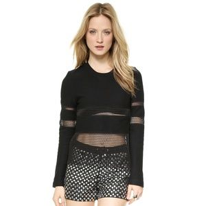 Endless Rose Black Netted Sweater, Large